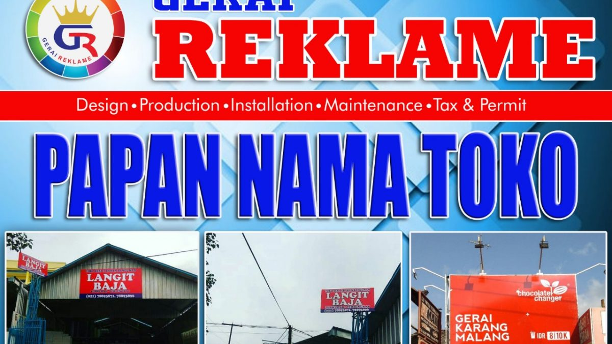 Spanduk Nama Toko Bangunan - desain spanduk keren